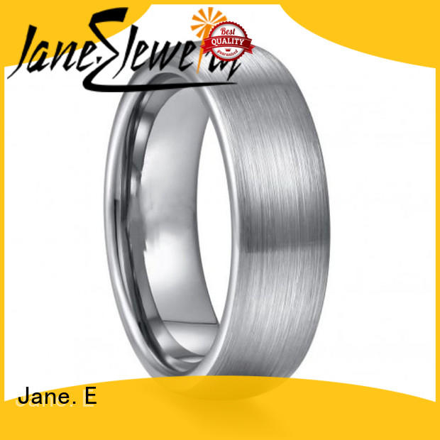 JaneE multi colors 6mm tungsten ring exquisite for gift