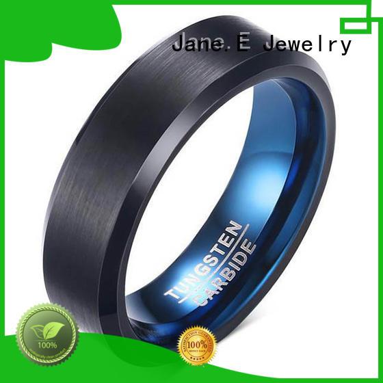 6mm tungsten ring koa wood for wedding JaneE