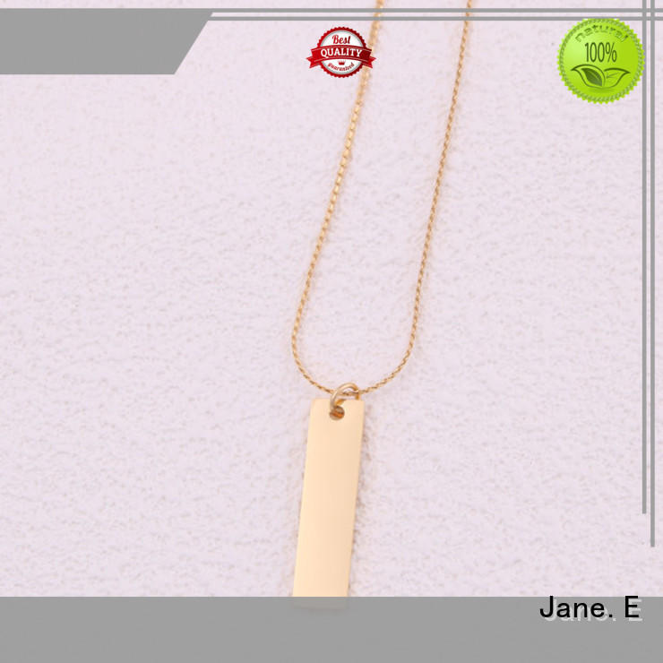 JaneE surgical stainless steel chain necklace manual polished for gift