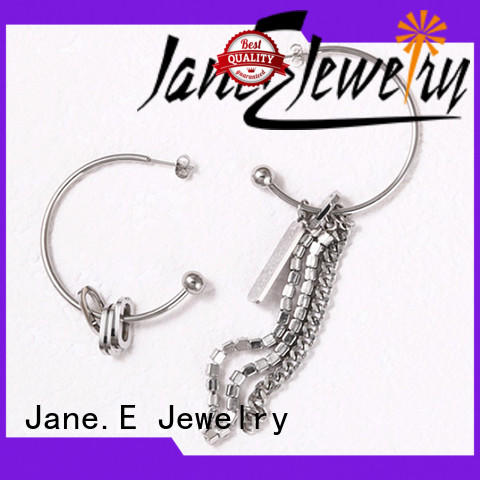 JaneE multi colors stainless steel hoop earrings ODM for women