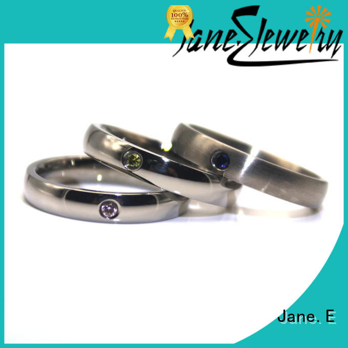 JaneE factory direct stainless steel rings for her fashion design for men