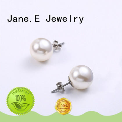 JaneE piercing medical grade titanium earrings IP gold for gift