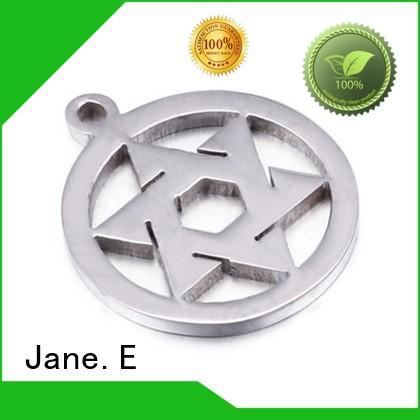 JaneE new design stainless steel engravable pendants custom for necklace