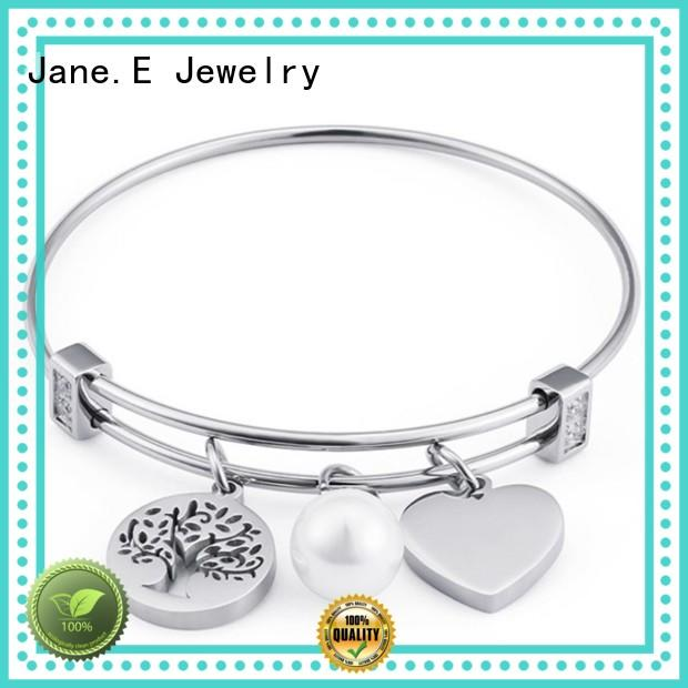 JaneE 316l stainless steel bangle hot selling manufacturer