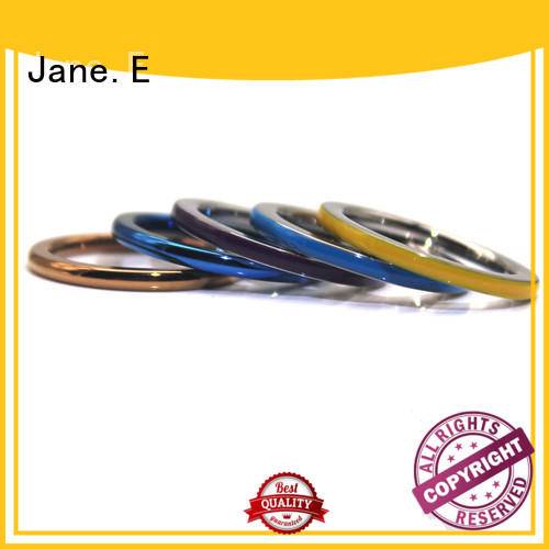 JaneE shiny stainless steel promise rings top quality for weddings