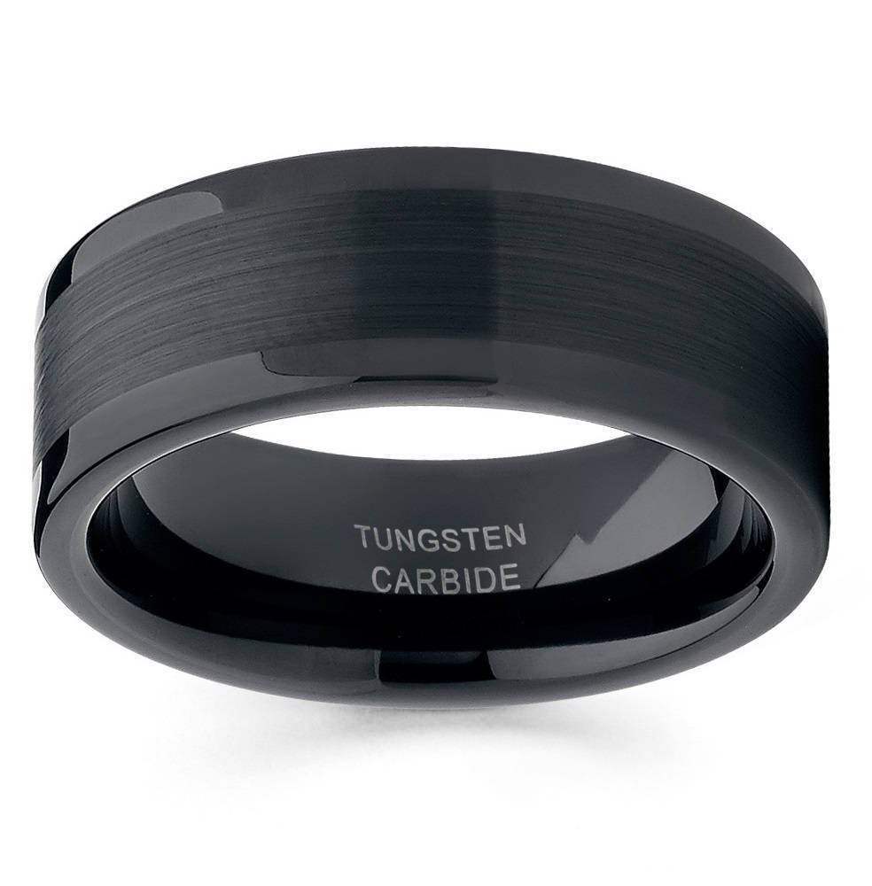 JaneE unique design mens tungsten wedding bands matt for engagement-2