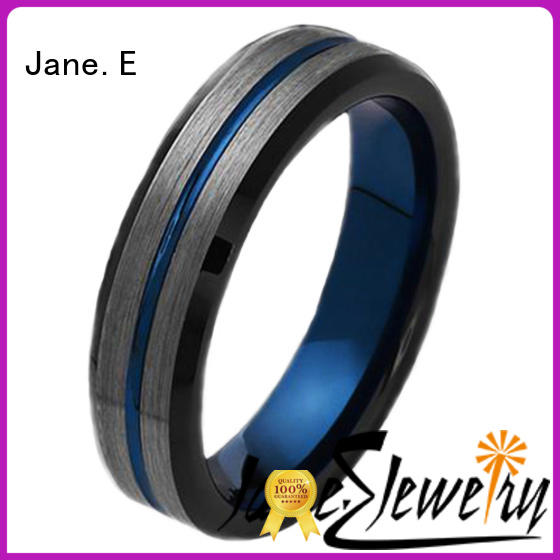 two tones two tone tungsten wedding bands damascus texture for wedding JaneE