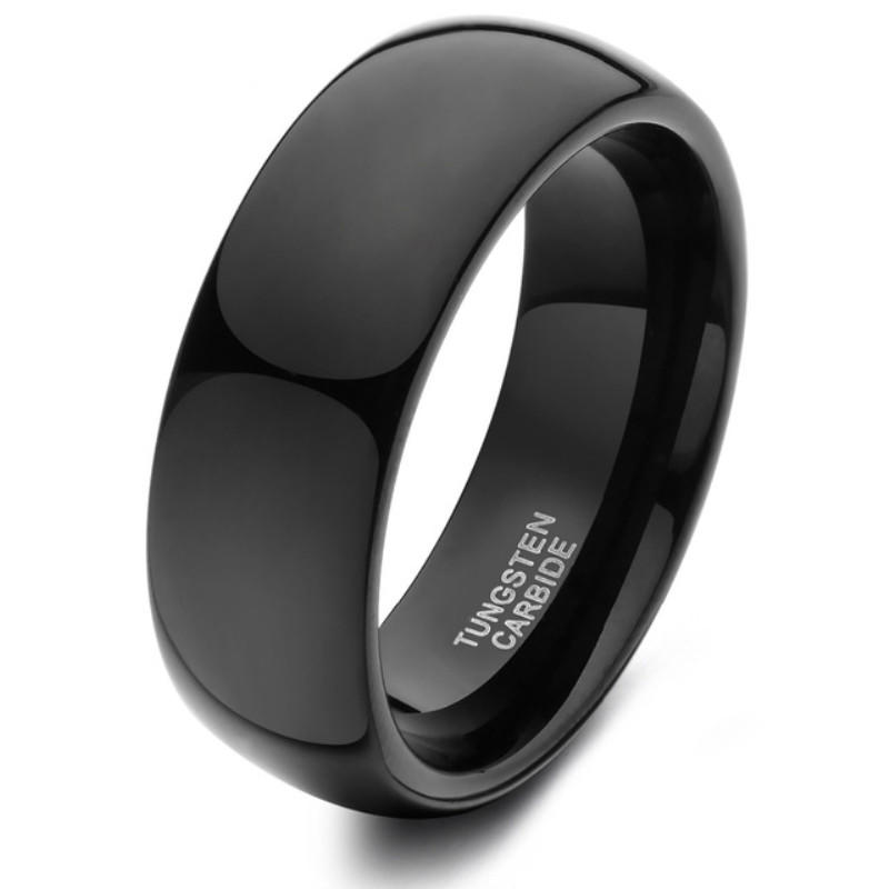 JaneE inlay brushed 10mm mens wedding bands tungsten exquisite for wedding-3