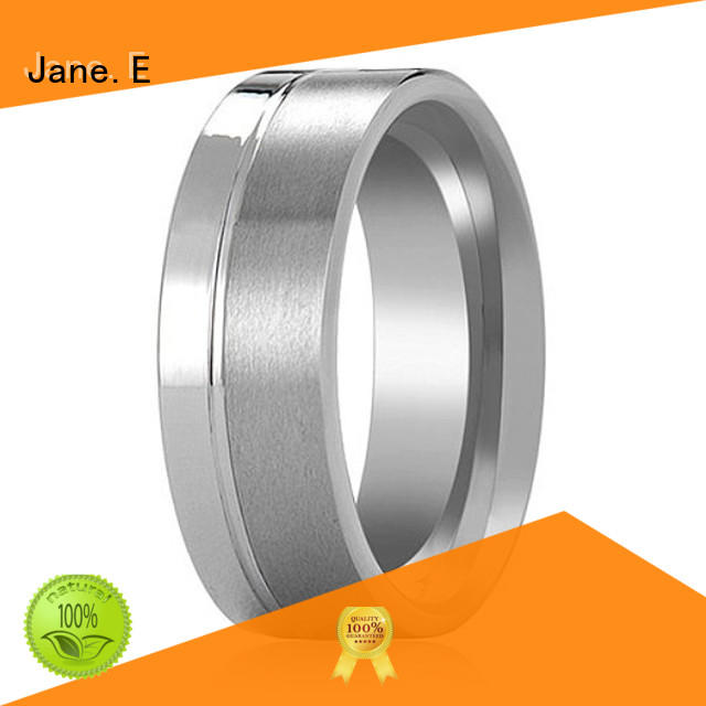 two tones 6mm tungsten ring koa wood for gift JaneE