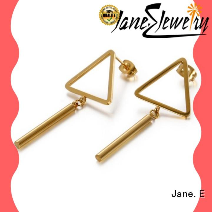 JaneE multi colors surgical stainless steel earrings comfortable for decoration