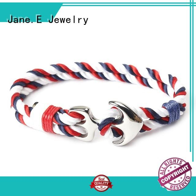 JaneE customized name logo rope bracelet womens high quality for women