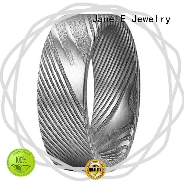 JaneE shiny custom rings waterproof for engagement