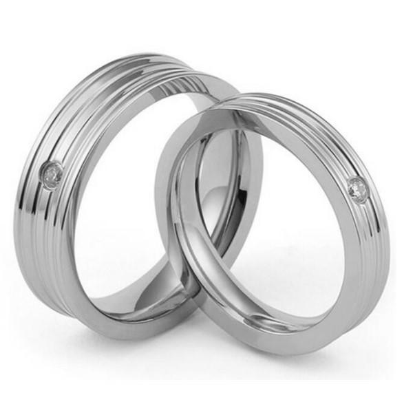 JaneE square edges simple stainless steel rings top quality for weddings-3