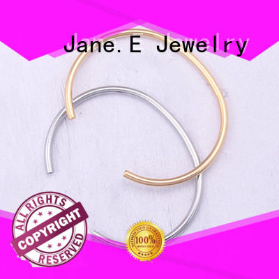 JaneE fabric pads stainless steel bangle hot selling supplier