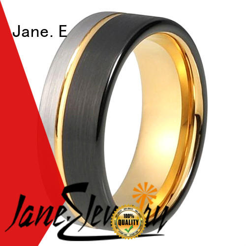 JaneE multi colors tungsten wedding bands for her exquisite for gift