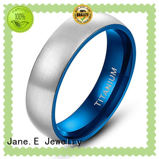 JaneE yellow gold titanium engagement rings for her wholesale for wedding
