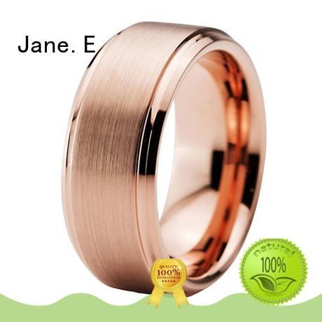 unique design mens gold tungsten wedding bands damascus texture matt for gift