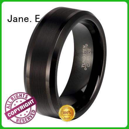 unique design tungsten carbide ring damascus texture exquisite for gift