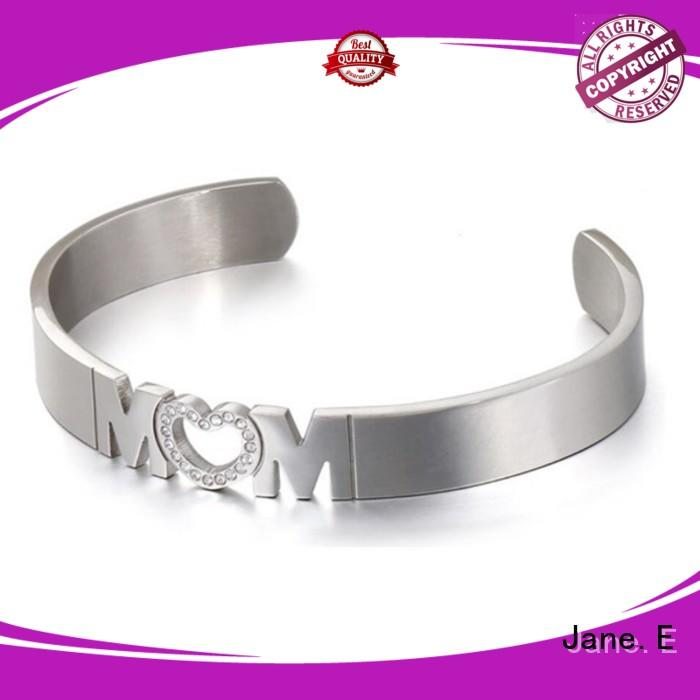 JaneE 316l stainless steel bangles wholesale hot selling manufacturer