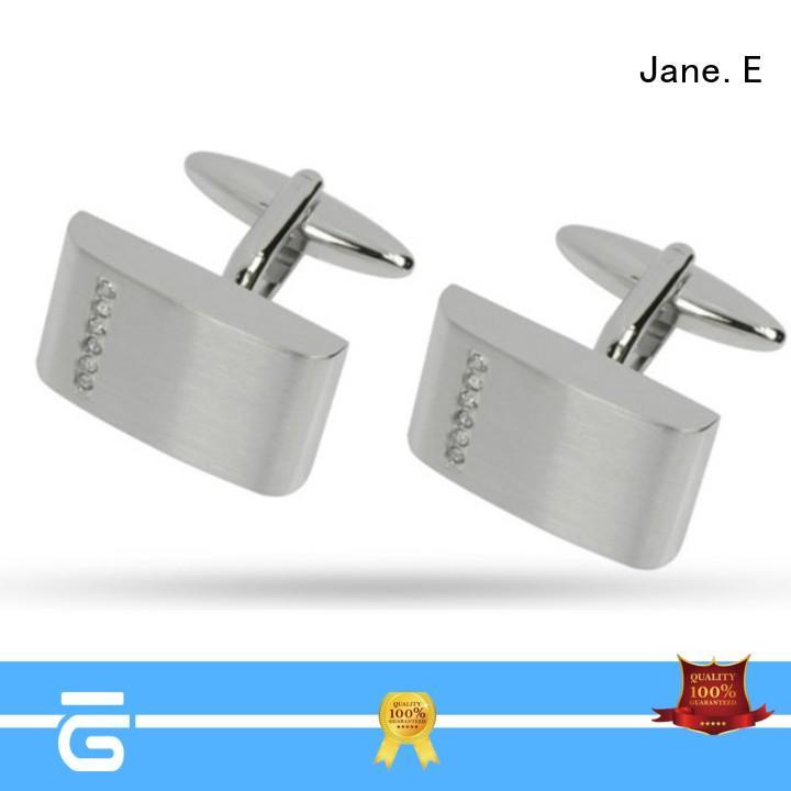 JaneE laser engraved engrave cufflinks fashion supplier