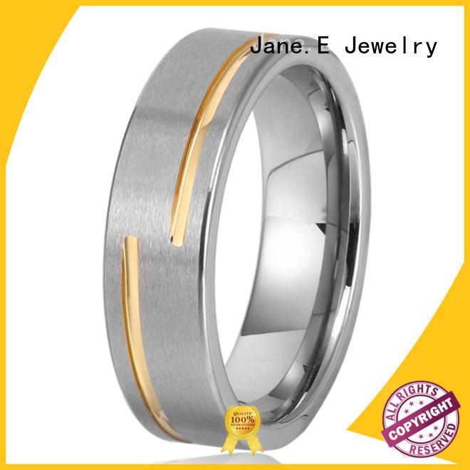 JaneE multi colors tungsten carbide wedding bands matt for wedding