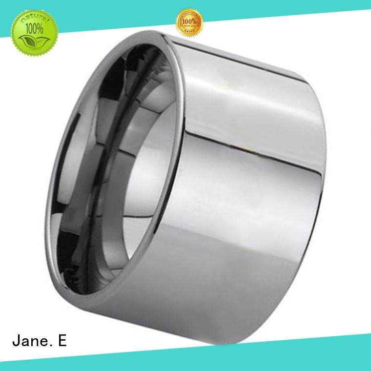 unique design 10mm mens wedding bands tungsten two tones engraved for gift