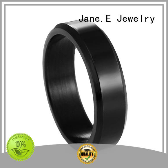 JaneE factory direct stainless steel promise rings for him fashion design for weddings