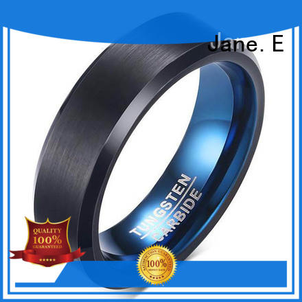 JaneE two tones wood inlay wedding band exquisite for engagement