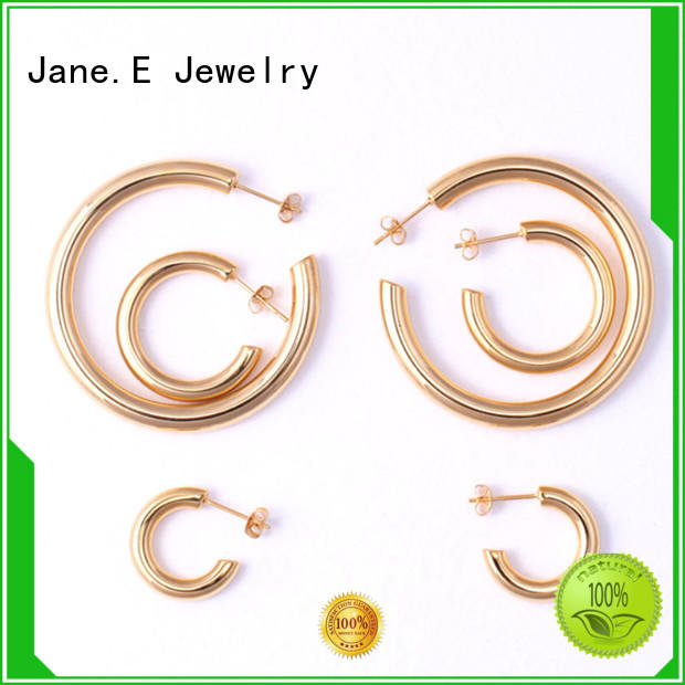 JaneE 316l stainless steel earrings customized for decoration