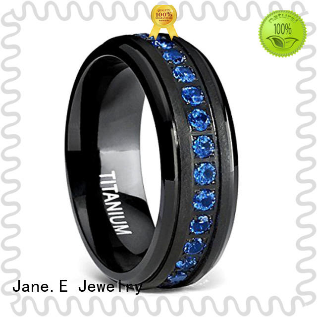 JaneE for wood crafts titanium engagement rings wholesale for wedding