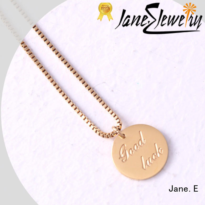JaneE brushed surface stainless steel necklace manual polished for decoration