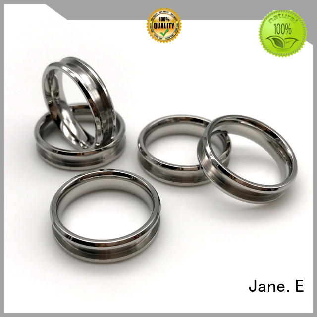JaneE factory direct surgical steel rings multi colors for weddings