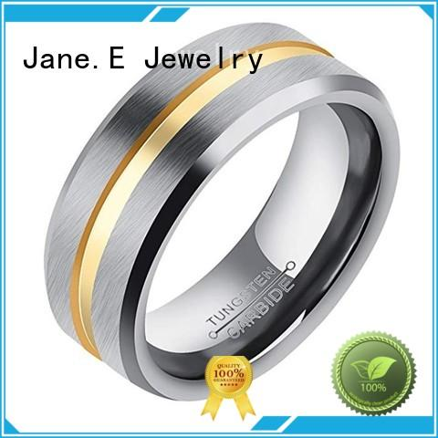 red opal tungsten male wedding bands meteorite for engagement JaneE