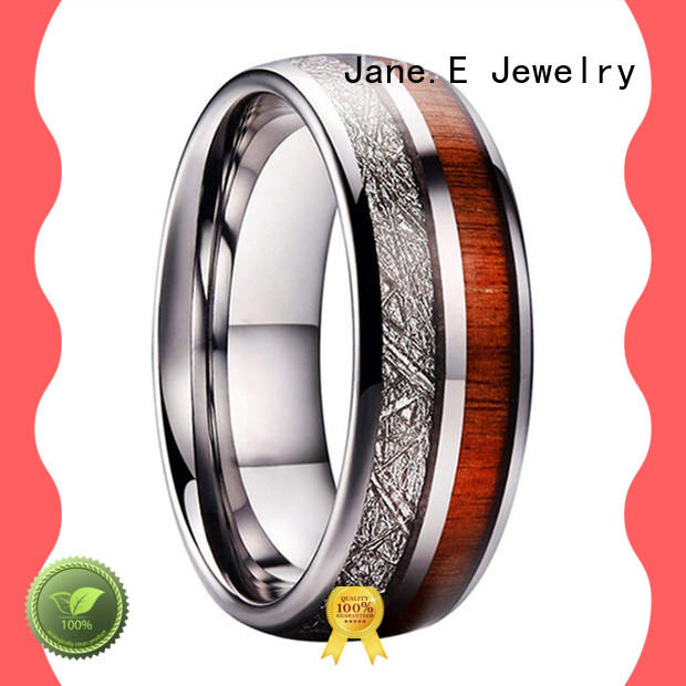 multi colors tungsten carbide gold ring inlay brushed matt for engagement