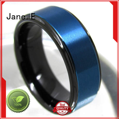 JaneE multi colors tungsten carbide rings matt for wedding