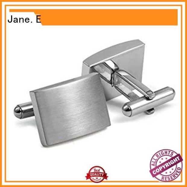 JaneE silver personalized cufflinks for men