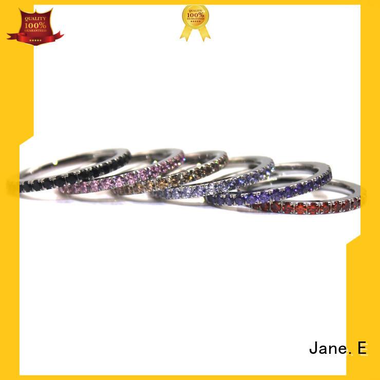 JaneE 18k gold steel ring comfortable for men