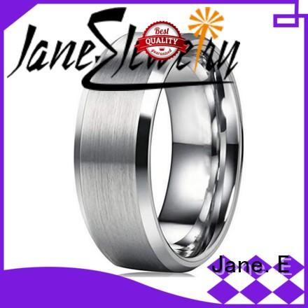 JaneE customized mens stainless rings fashion design for decoration