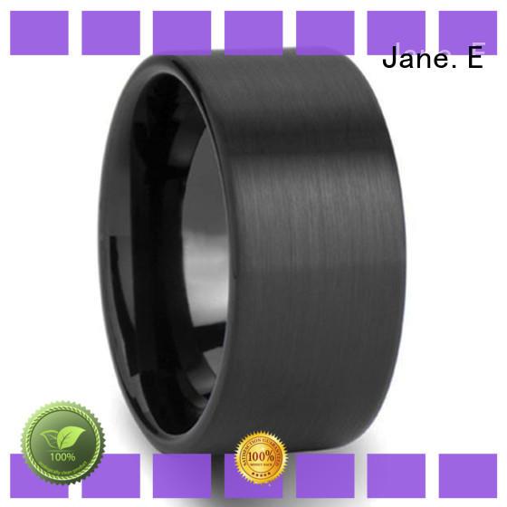 JaneE two tones tungsten rings for men matt for gift