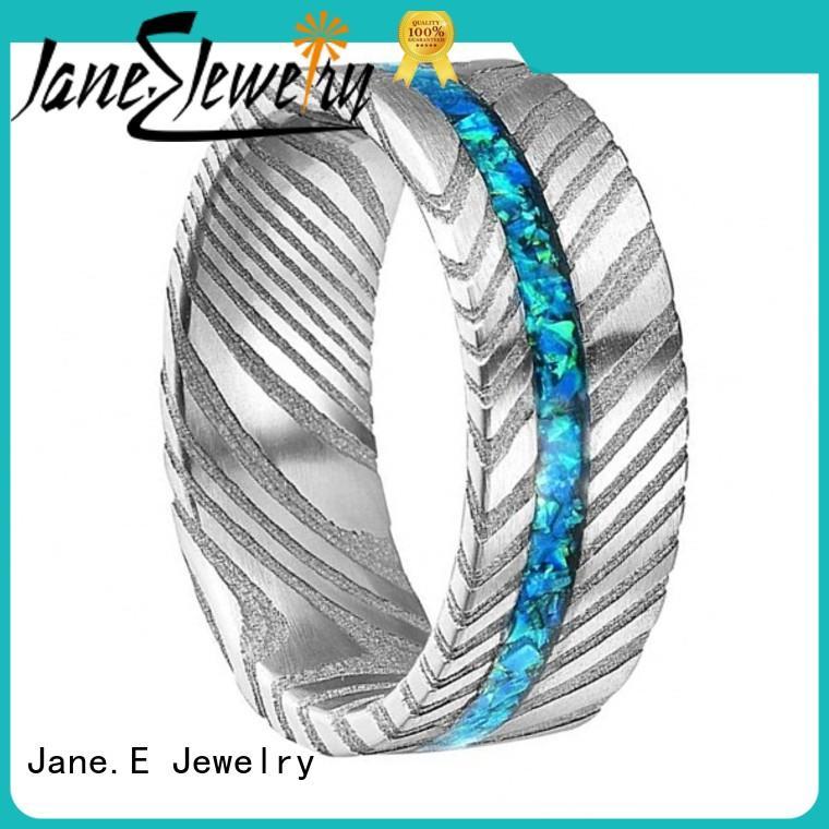 customized damascus steel mens wedding band keen edges wholesale for wedding