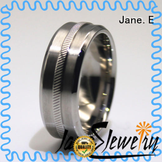 shiny stainless steel wedding band blue fashion design for weddings