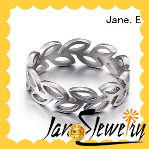 JaneE shiny surgical steel rings multi colors for weddings