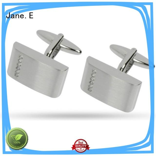 etched logo personalised cufflinks 316l for men
