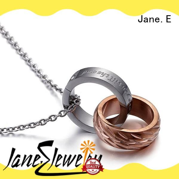 JaneE aromatherapy stainless steel necklace for men different dimension manufacturer