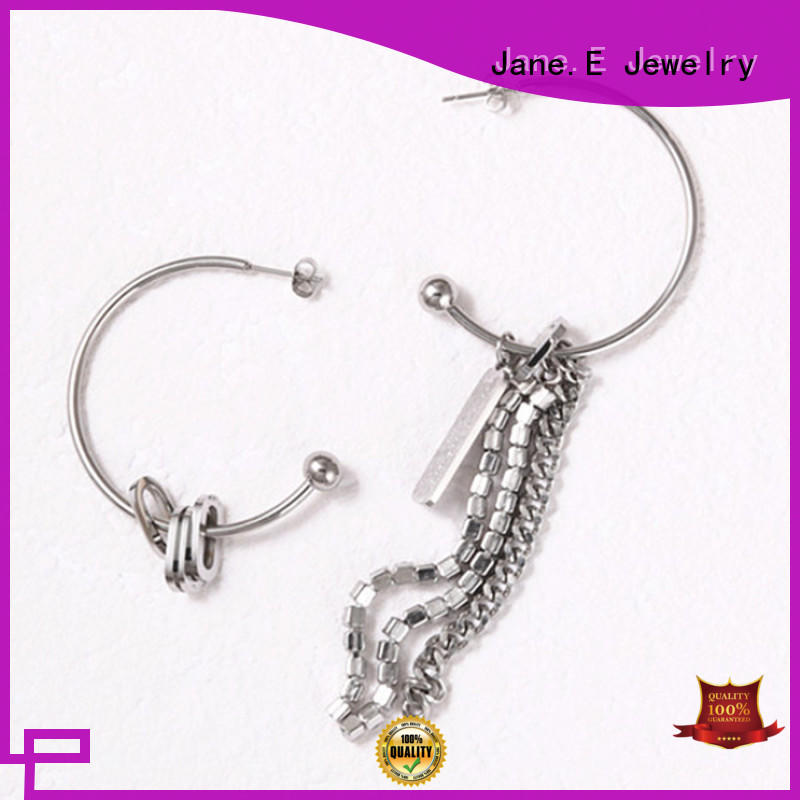 JaneE multi colors 316l stainless steel earrings customized for decoration