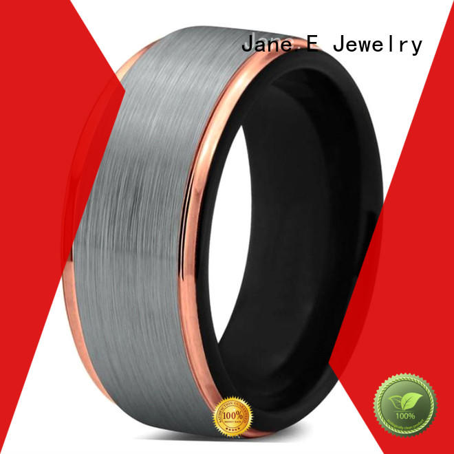 JaneE traditional custom tungsten ring engraved for gift