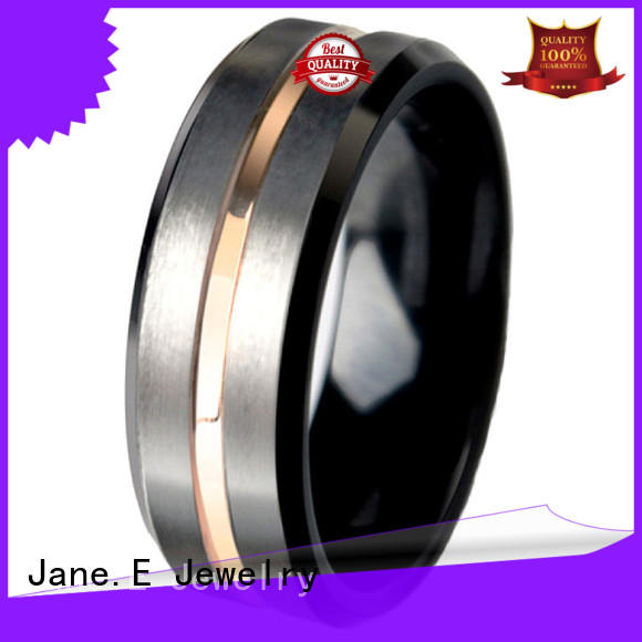 shiny polished wood inlay wedding band meteorite exquisite for wedding