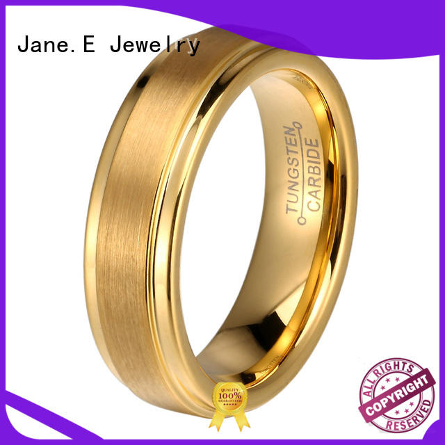 damascus texture 8mm tungsten carbide wedding band inlay brushed for engagement JaneE