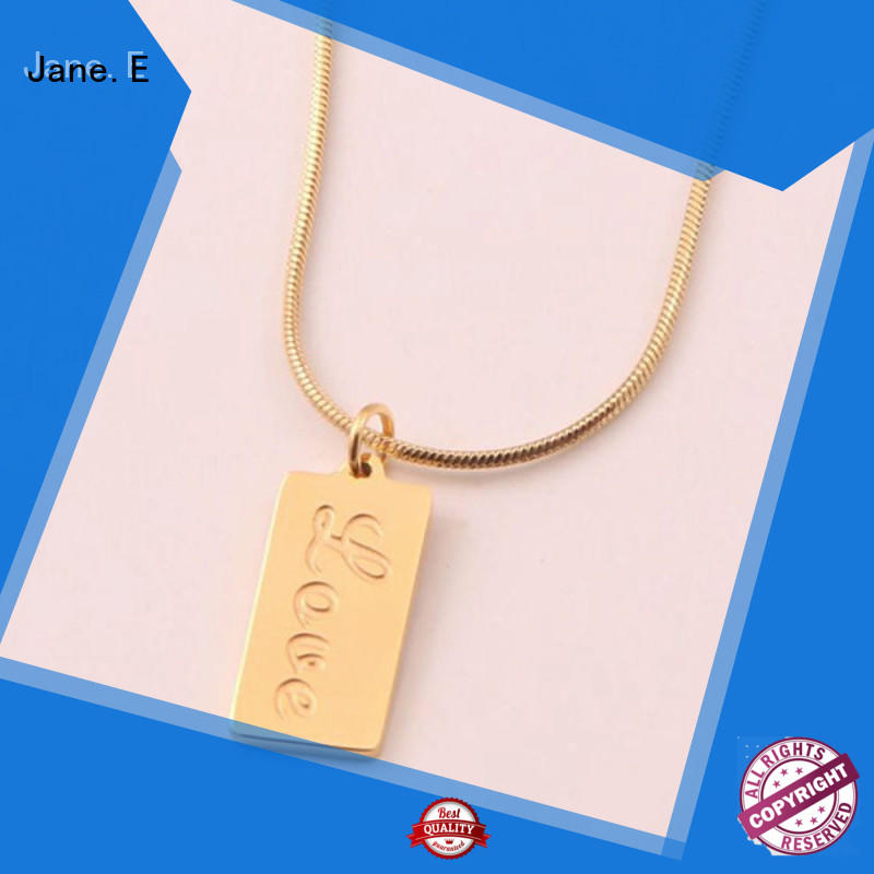 classic stainless steel necklace polished surface manual polished for gift