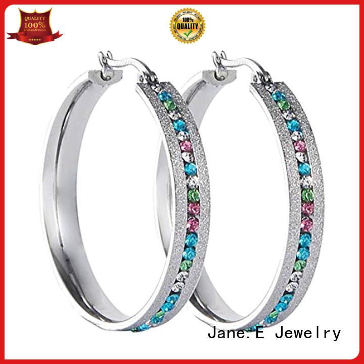 JaneE hypoallergenic stainless steel earrings comfortable for women